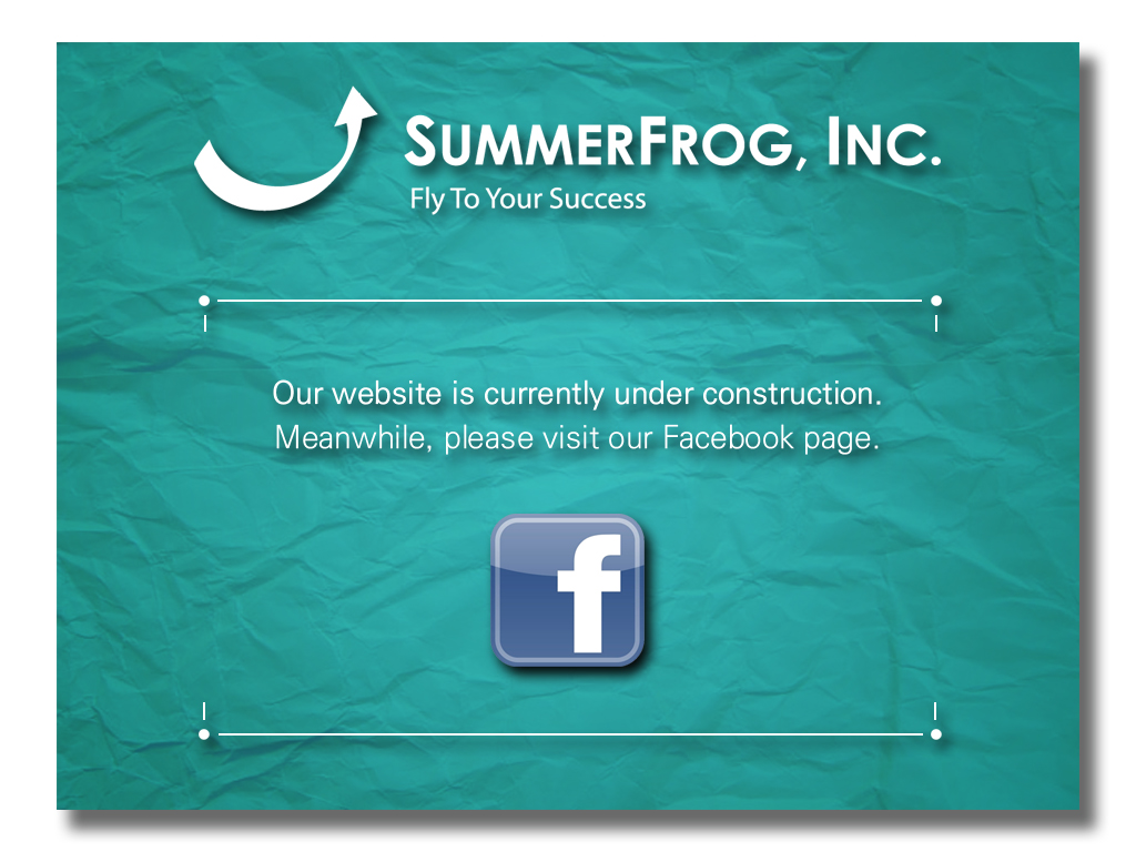 SummerFrog.com is currently under construction. Please visit our Facebook page. Thank you.